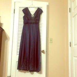Navy Blue size 8 Ankle/maxi dress - Macy's